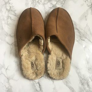 UGG Mens scuff leather slippers